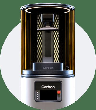 Photo of the build platform of the M2 Carbon 3D printer