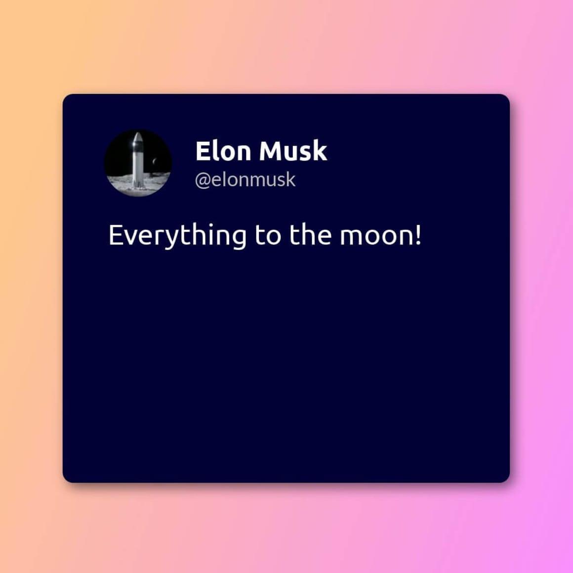 Elon Musk tweet image