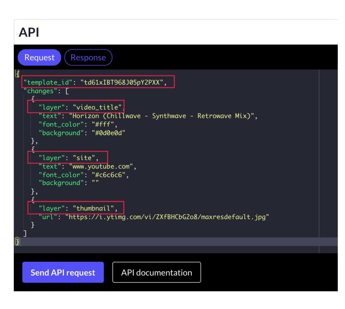 Template API layers