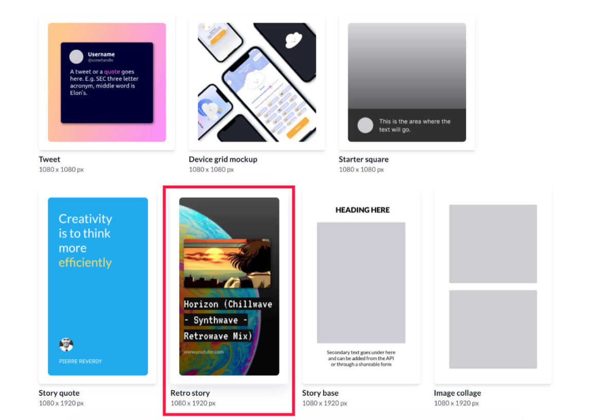 Glitterly API template