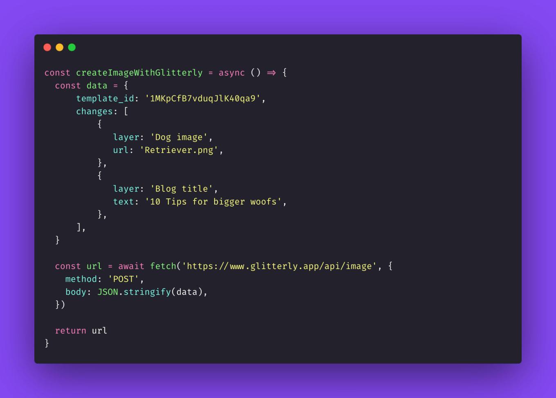 javascript image API