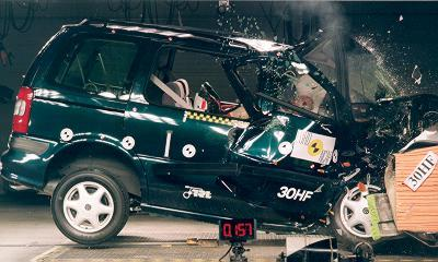Vauxhall Sintra crash test