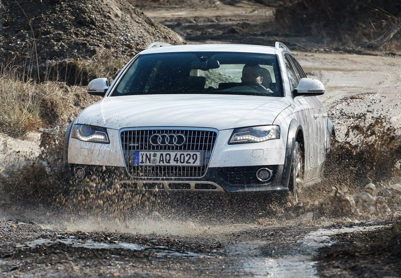 White Audi A4 Allroad