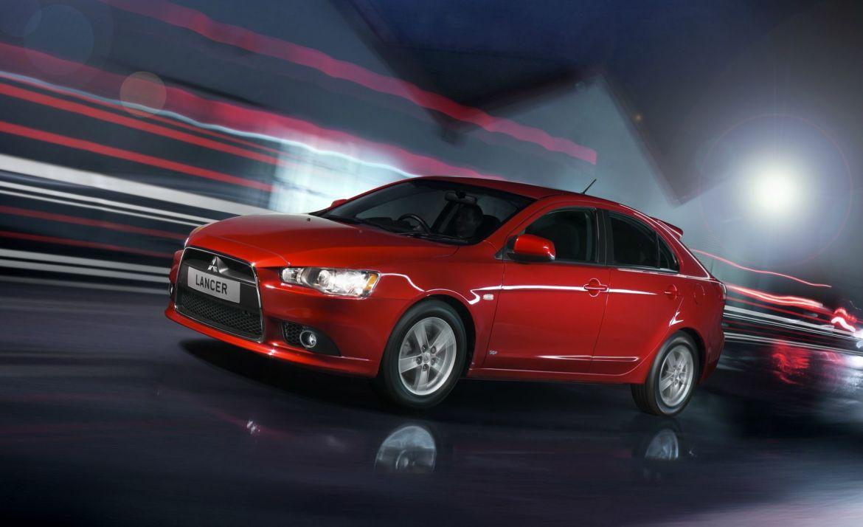 Red Mitsubishi Lancer