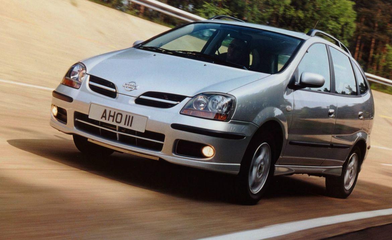 Silver Nissan Almero Tino