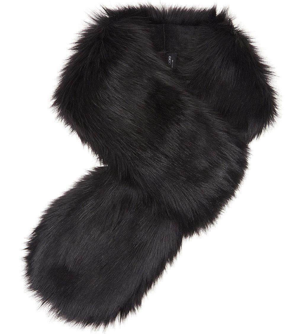 Helen Moore faux-fur scarf