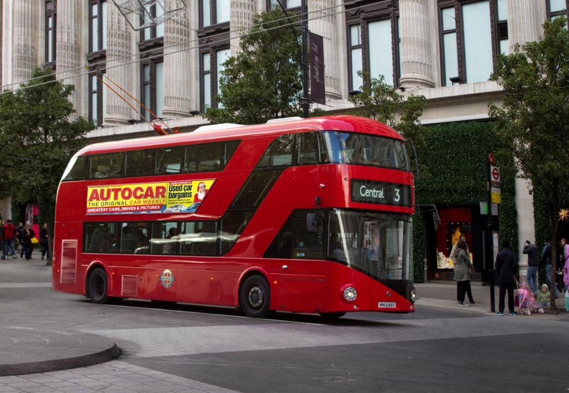 Red London Bus Allowing Passengers On