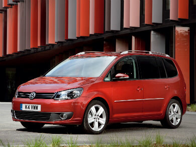 Volkswagen Touran in red