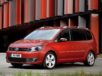 Volkswagen Touran in red