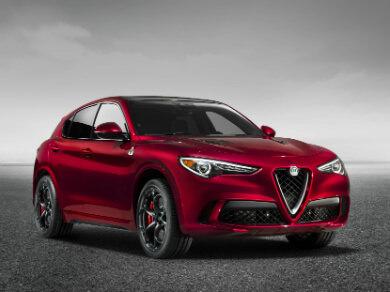 Red Alfa Romeo Stelvio