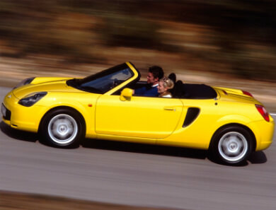 Toyota MR2 in yellow