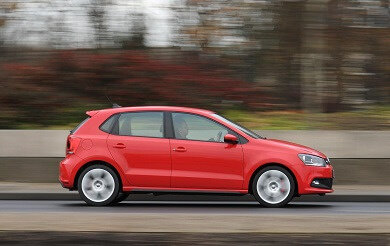Volkswagen Polo in red