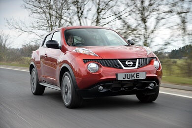 Nissan Juke in red