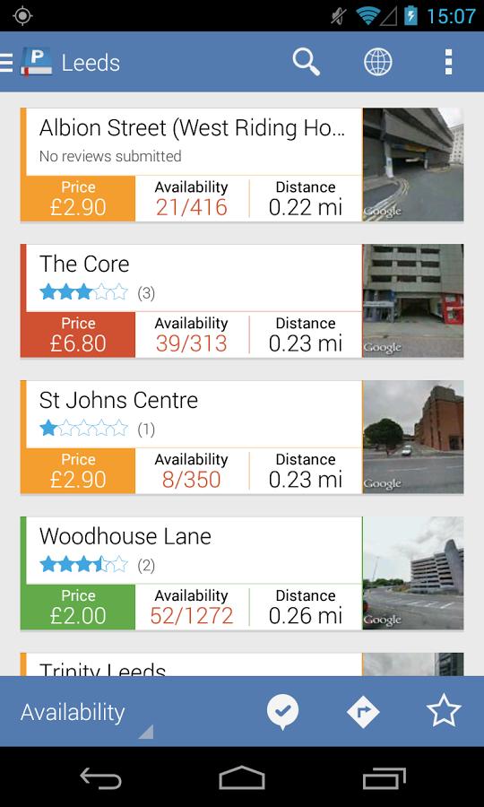 Parkopedia app