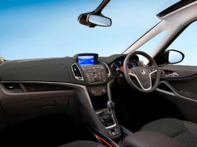 Vauxhall Zafira Tourer interior