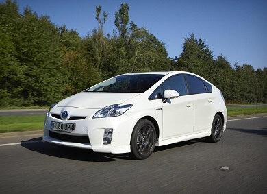 Toyota Prius in white