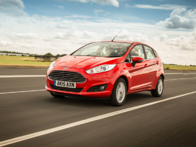 Ford Fiesta in red