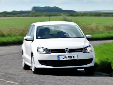 White VW Polp