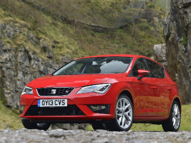 Seat Leon in red