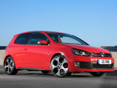 VW Golf GTI in red