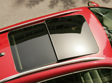 Volkswagen Tiguan with a panoramic glass sunroof