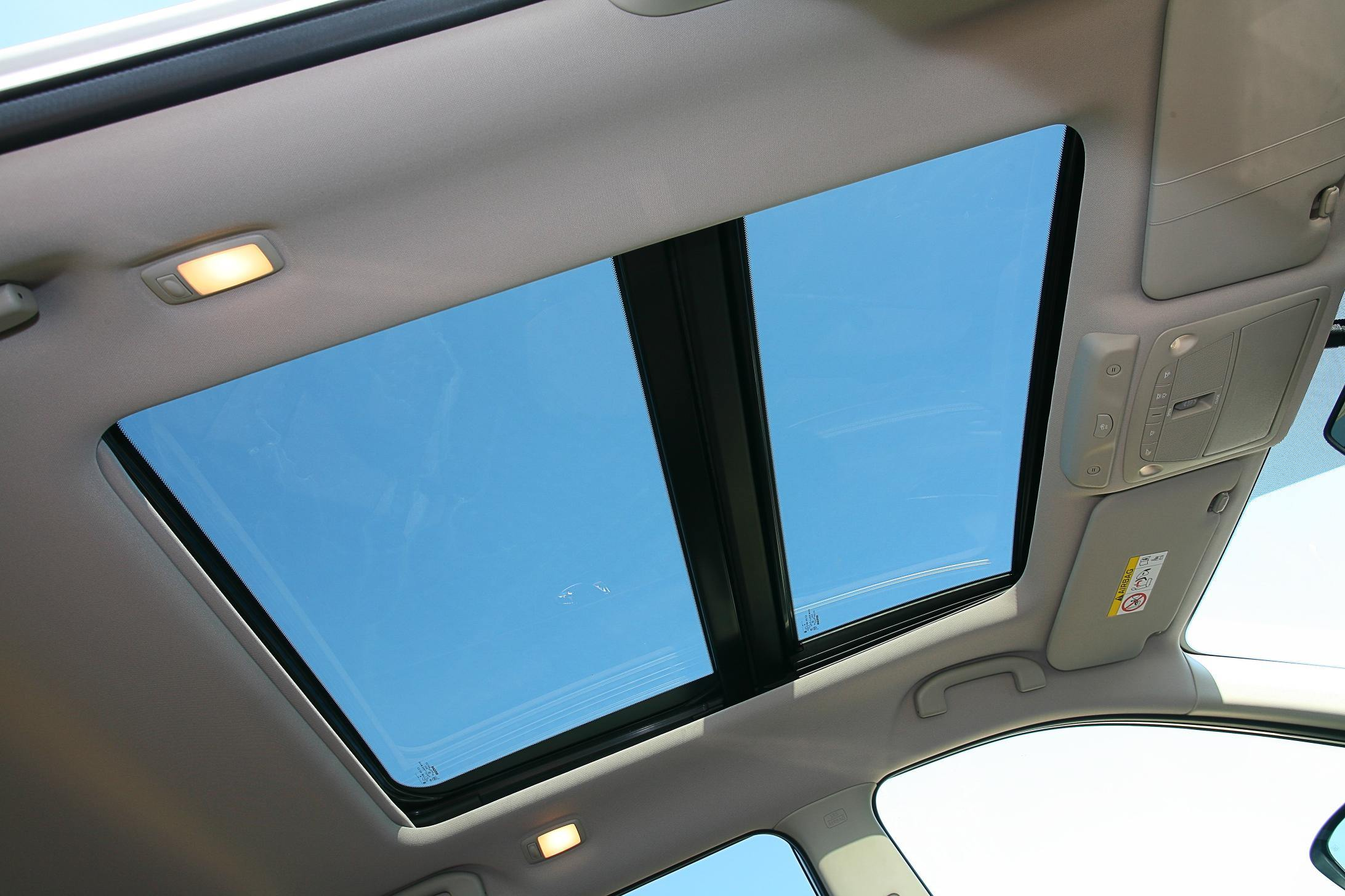 image of a panoramic sunroof