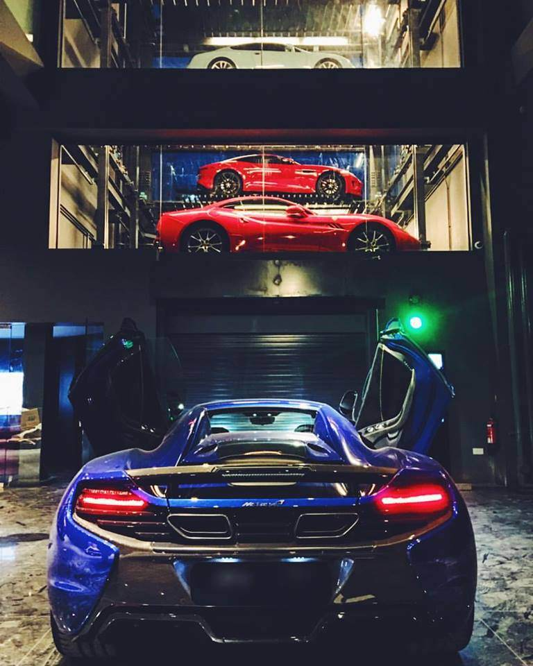 image of supercars on display