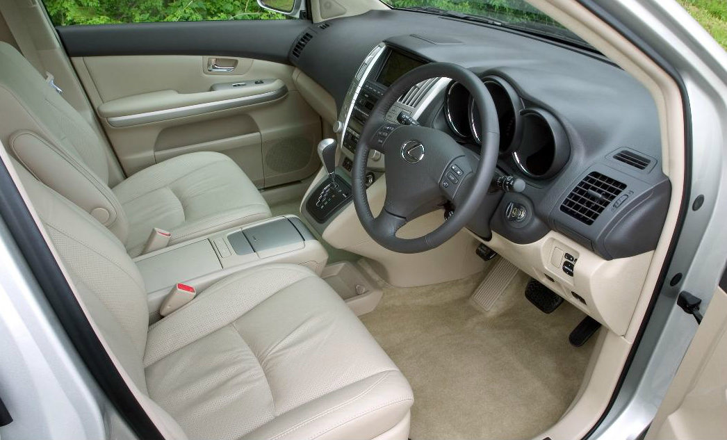 image of a lexus rx400h car interior