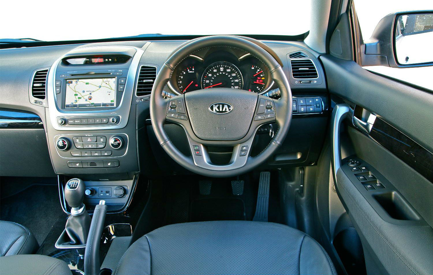image of a kia sorento car interior