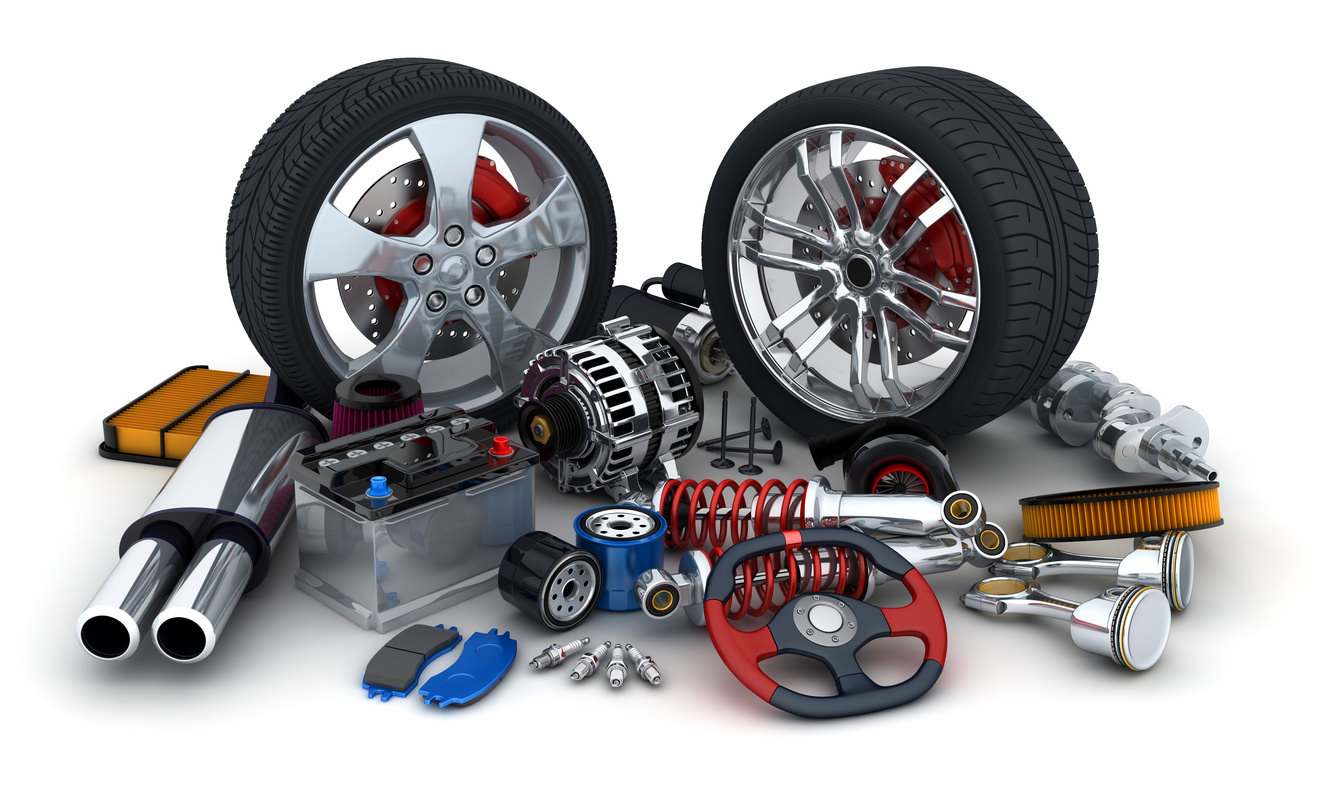 image of a collection of various car parts