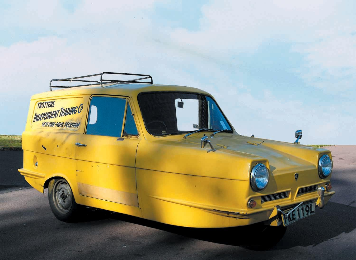 Yellow Reliant Robin made famous on Only Fools and Horses