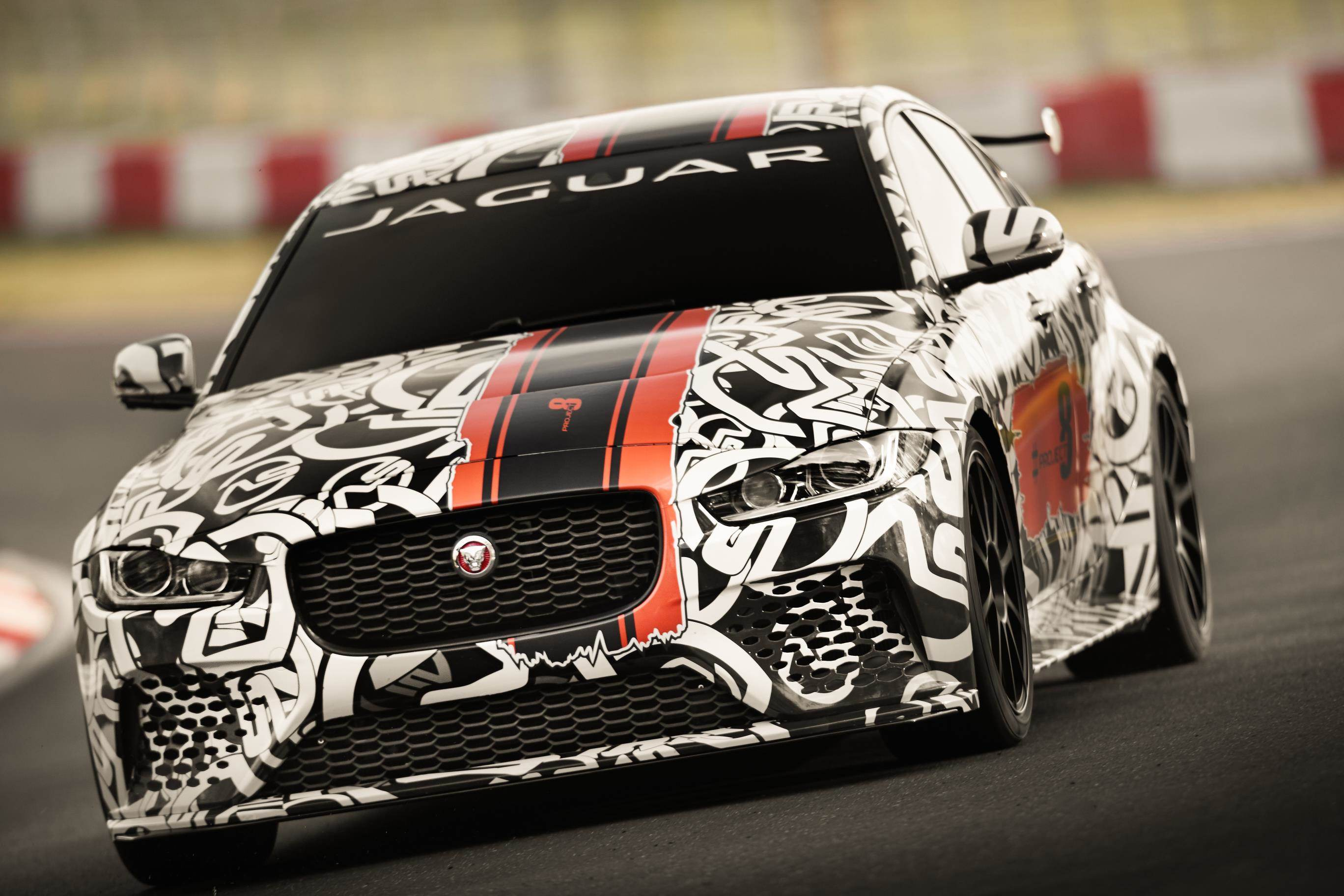 image of a jaguar xe sv project race car