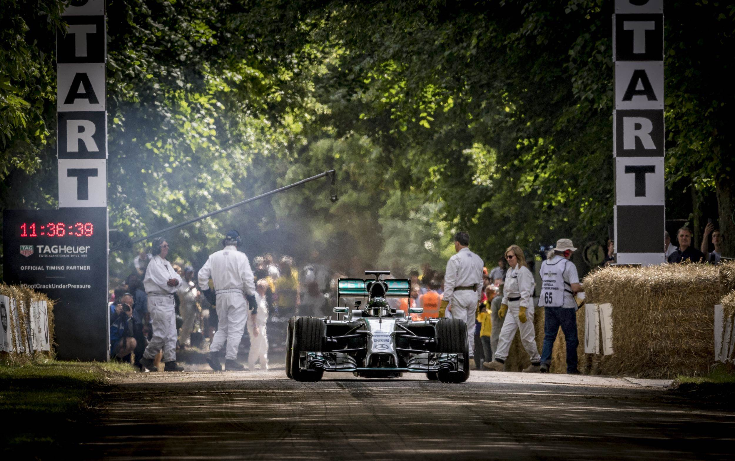 image of a mercedes-benz amg formula one car at goodward festival of speed