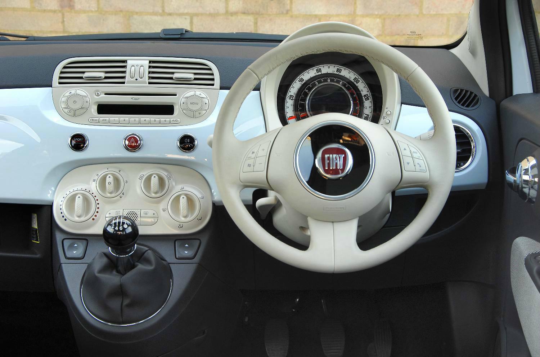 image of fiat 500 car interior