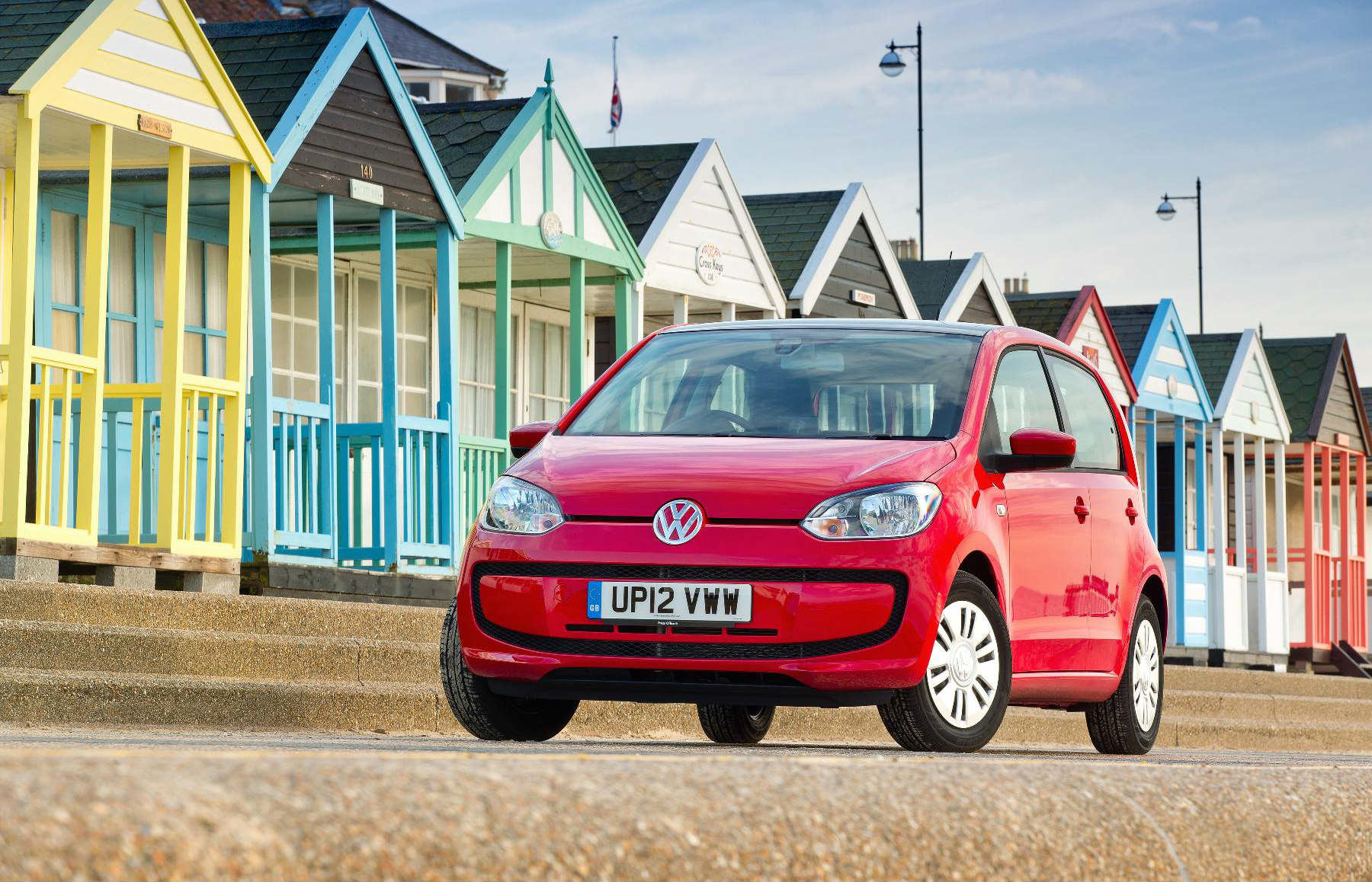 image of a volkswagen up car exterior
