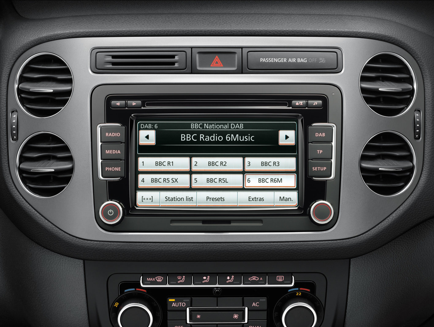 image of a car dab radio