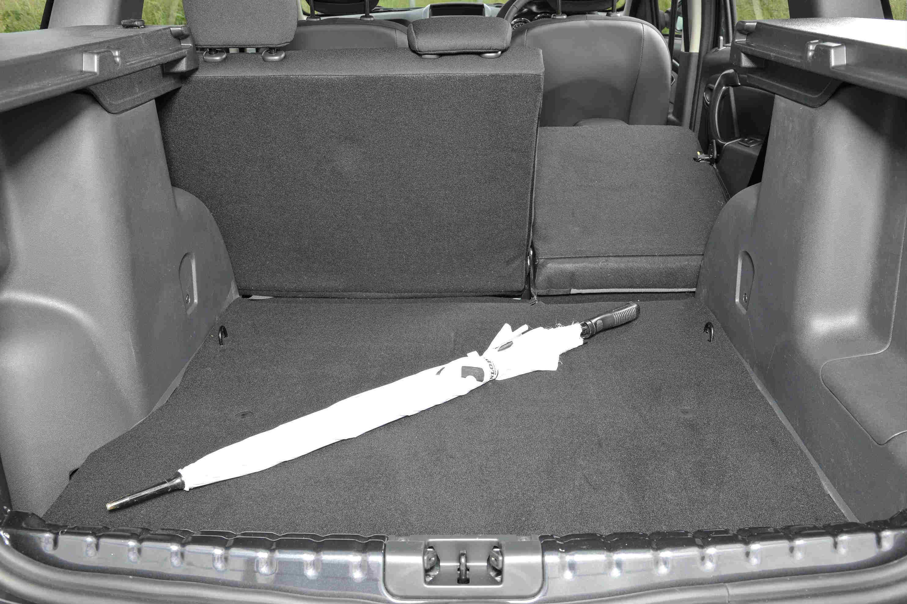 image of an umbrella inside the boot of a dacia duster