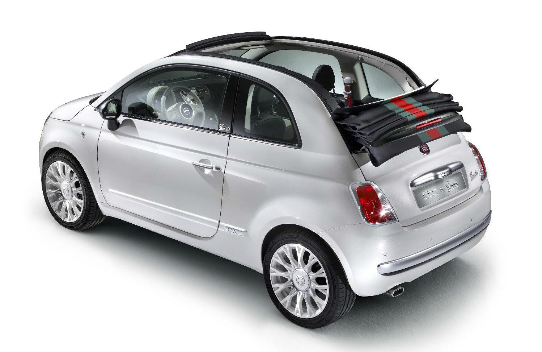 image of a white fiart 500c car exterior
