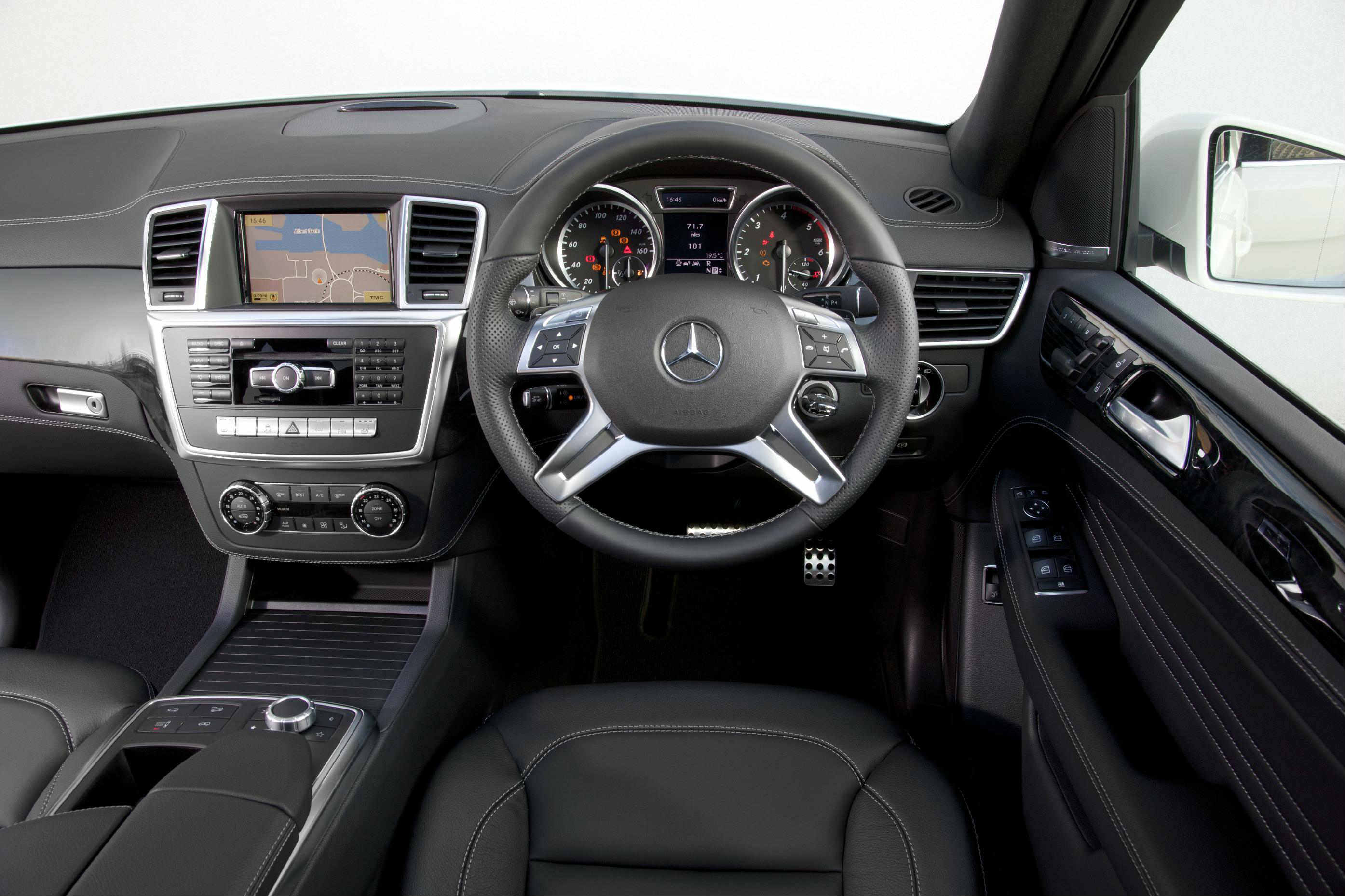 image of a mercedes-benz m class car interior