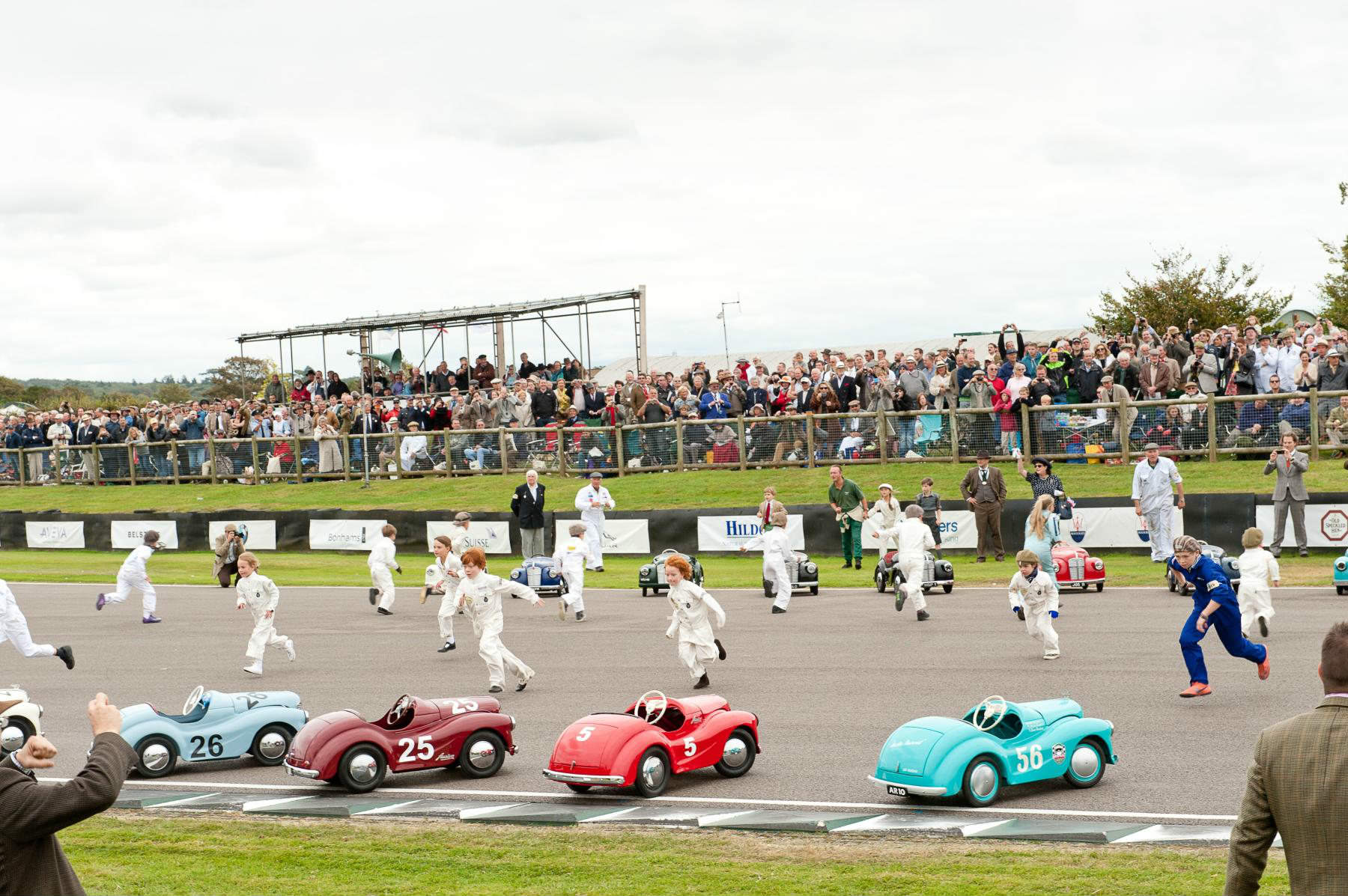 image of a kids car race at goodwood revival festival 2017