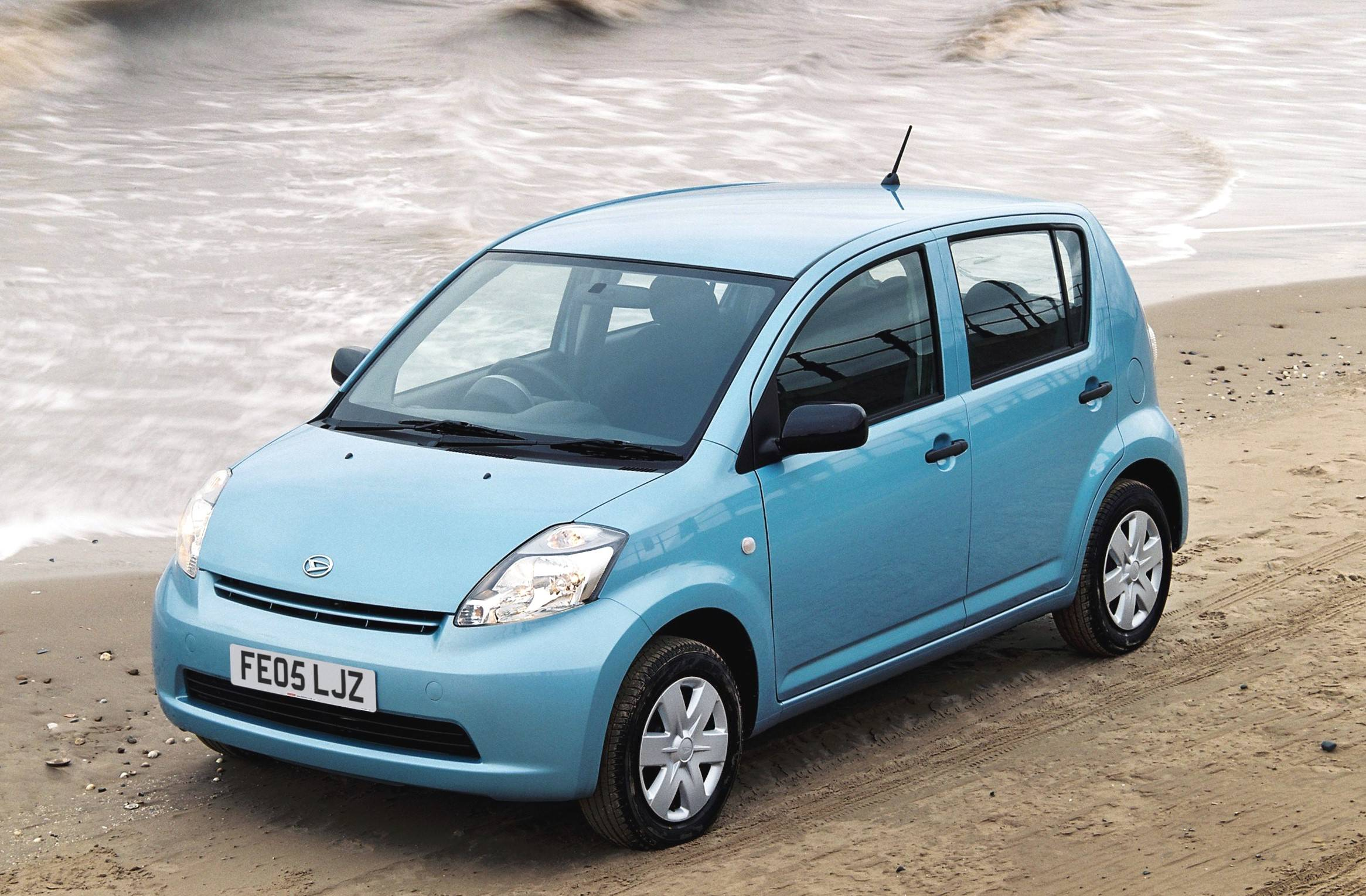 image of a blue daihatsu car exterior