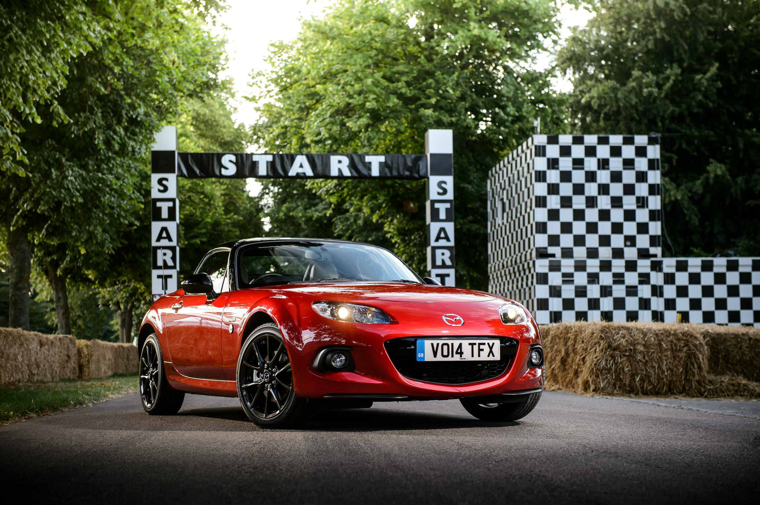 image of a red mazda mx 5 car exterior