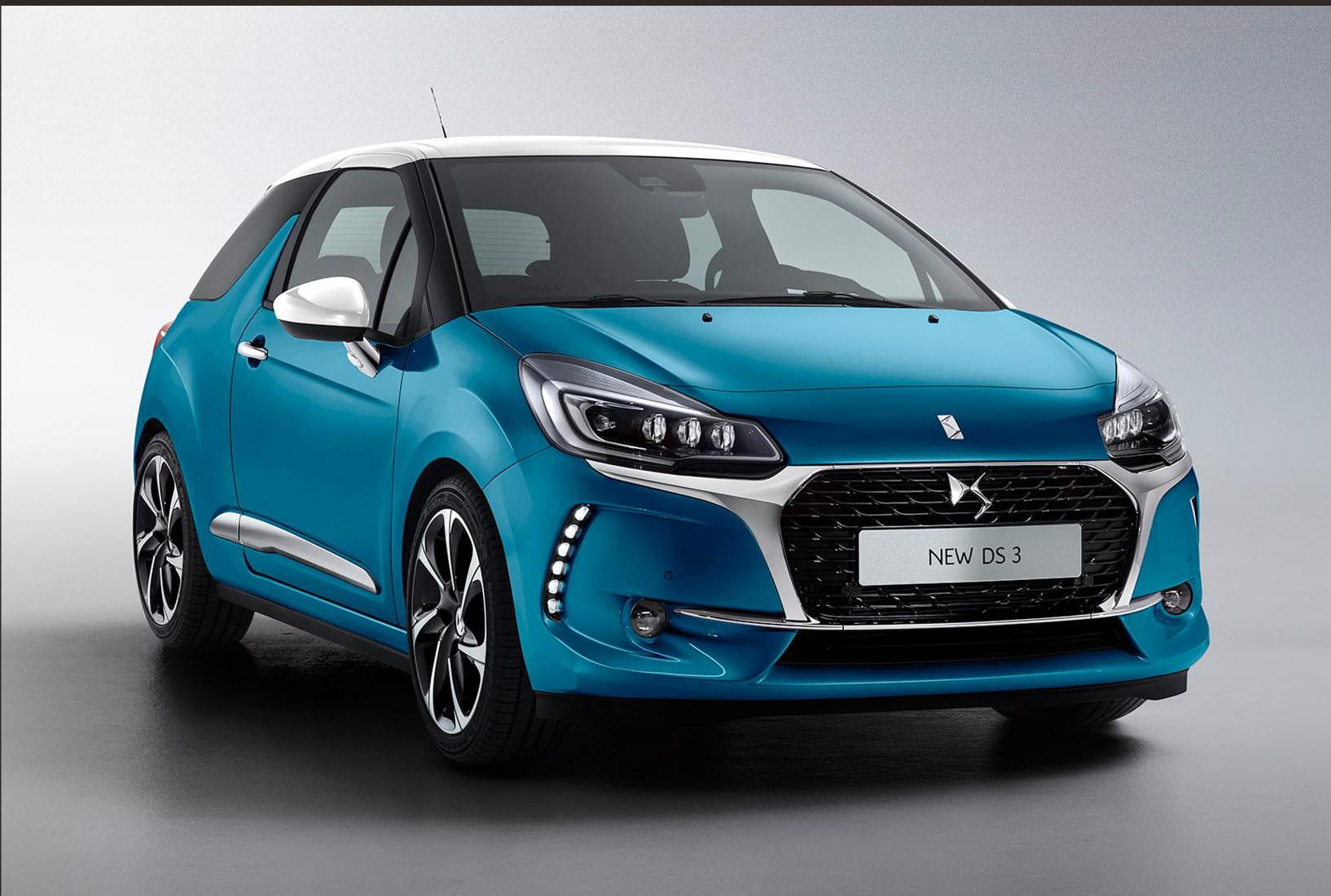 image of a blue ds 3 car exterior