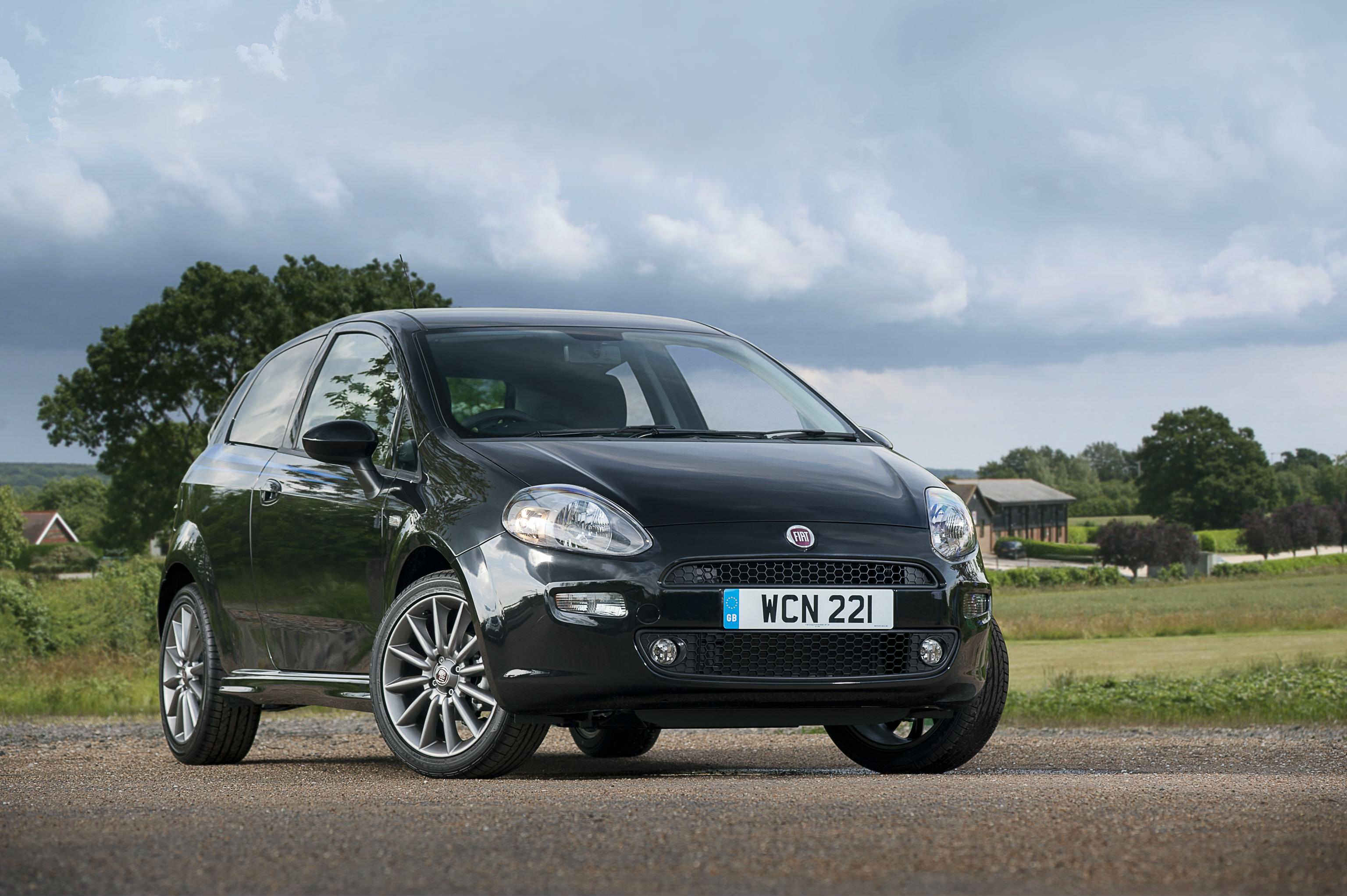 image of a black fiat punto car exterior