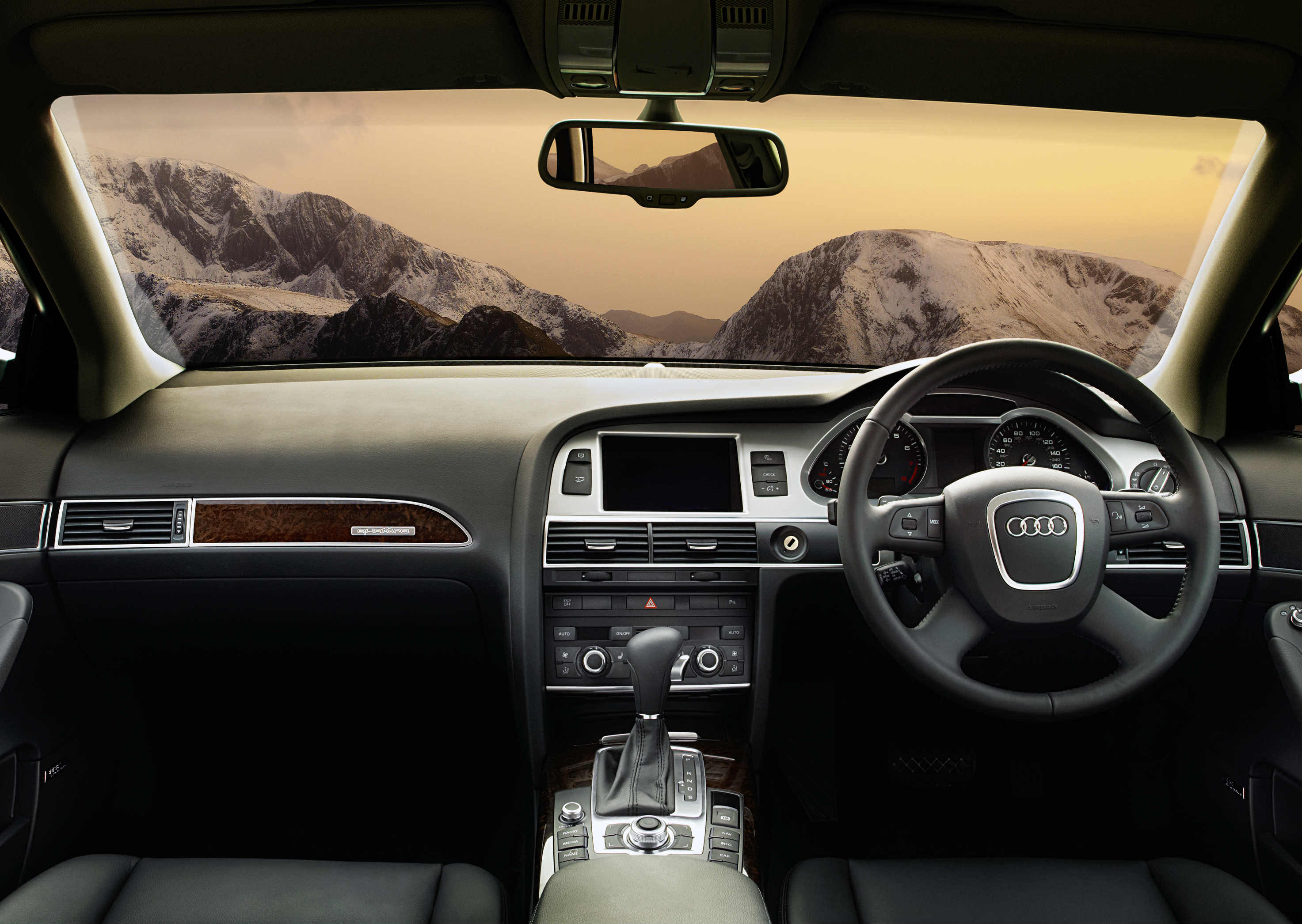 image of an audi a6 allroad car interior
