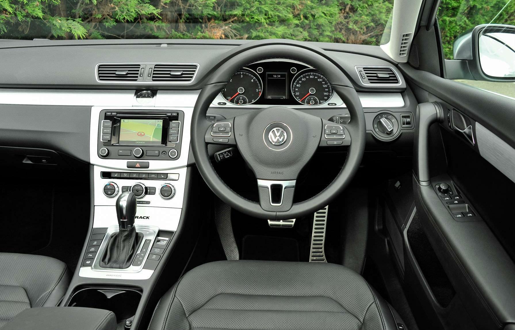 image of a volkswagen passat alltrack car interior