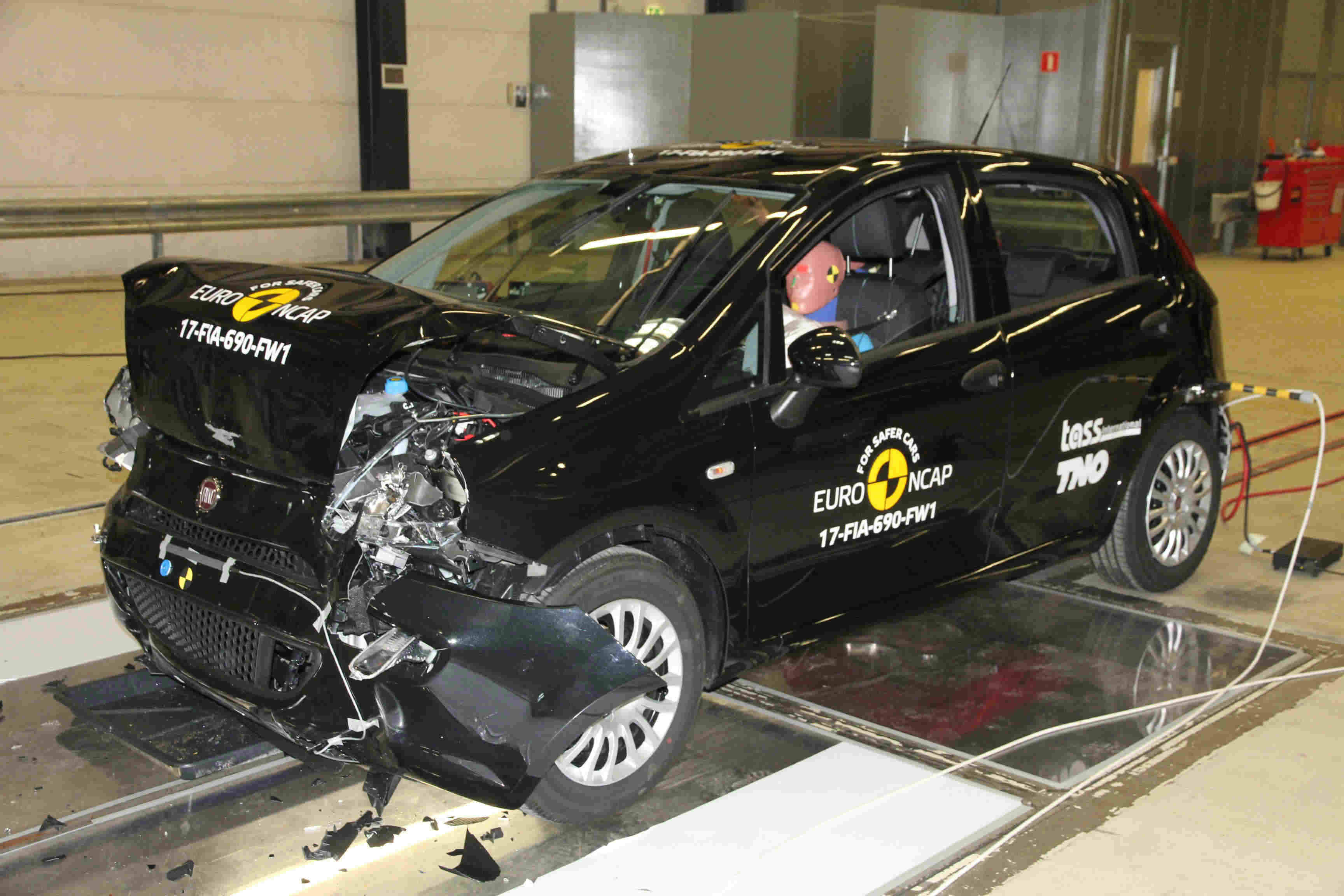 image of a fiat punto in a euro ncap crash test