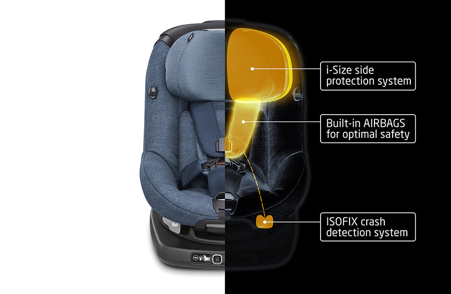 image of a maxi cosi child seat with built in protection features