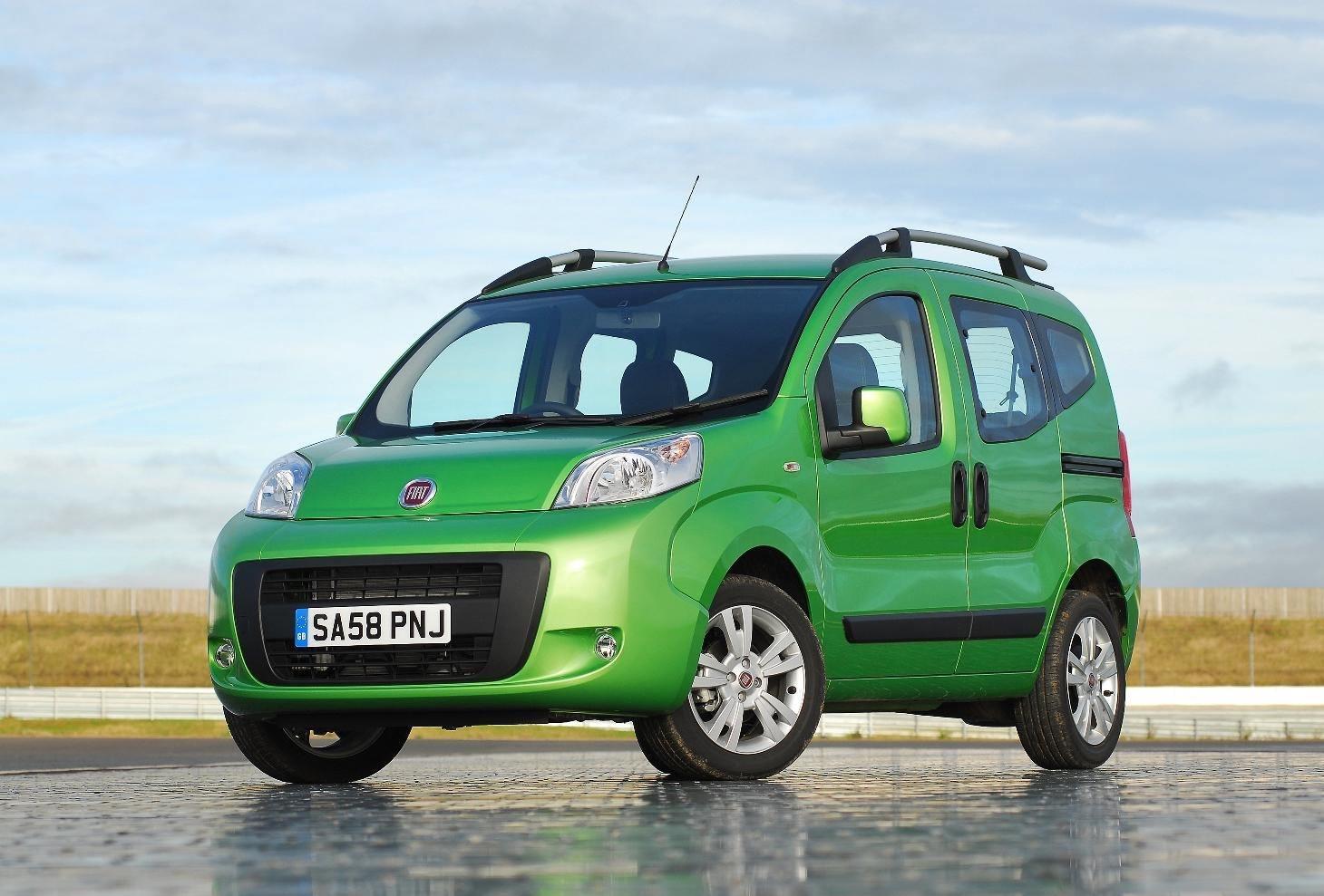 image of a green fiat qubo car van exterior