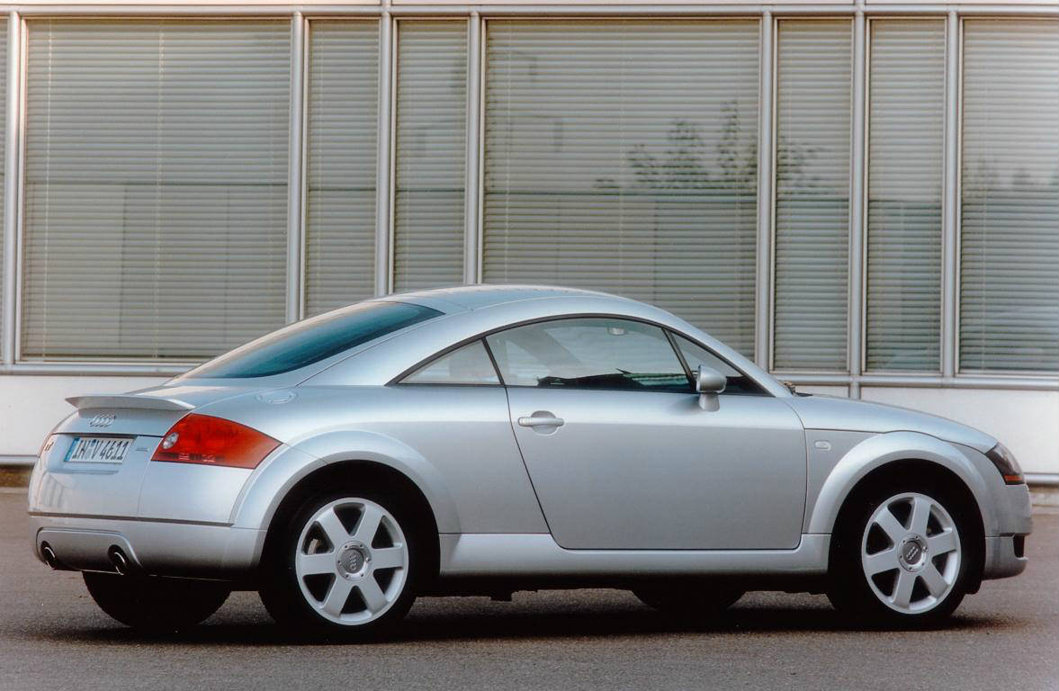 image of a vintage silver audi tt car exterior